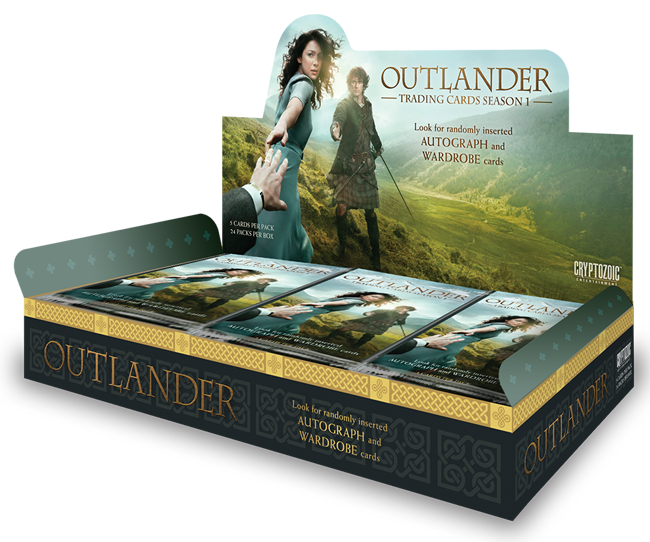 cryptozoic entertainment trading cards for Outlander and Outlander Anatomy interview