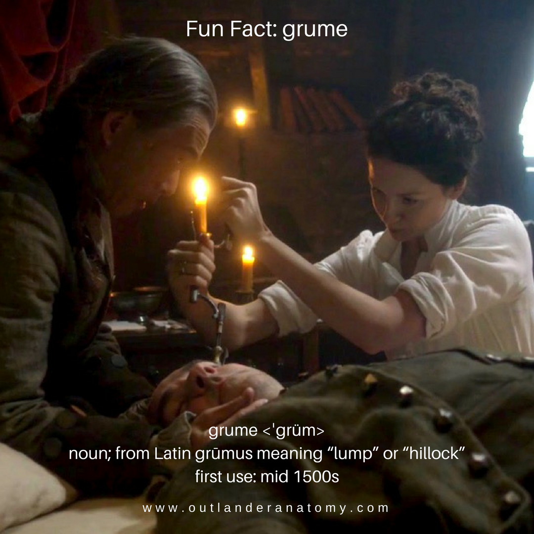 grume, blood clot, outlander