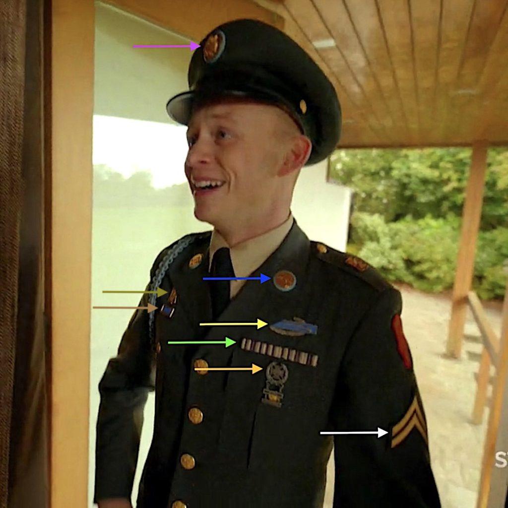 UNIT AWARDS RIGHT BREAST:ArmyPresidential Unit Citation